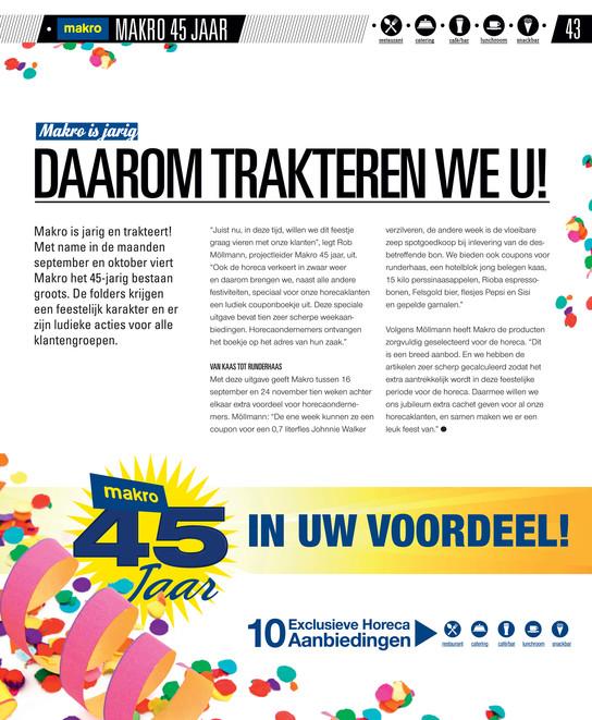 makro 40 jaar Makro Magazines   makro gastvrij herfst 2013   Pagina 40 41 makro 40 jaar